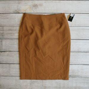 Alfani Camel Brown Straight Pencil Skirt 2